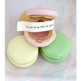 Personalised Set Of Macaron Wedding Favours