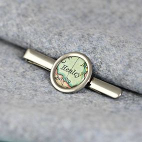 Personalised Vintage Map Tie Clip