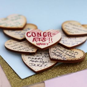 Personalised Map Wedding Table Favours