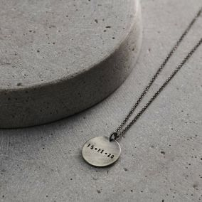 Men's Personalised Disc Necklace