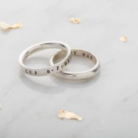 Personalised Mens Script Ring