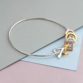 Personalised Mini Geometric Bangle