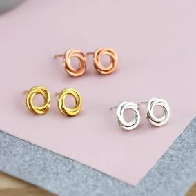 Russian Ring Stud Earrings