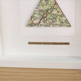 Personalised Single Triangle Map Picture