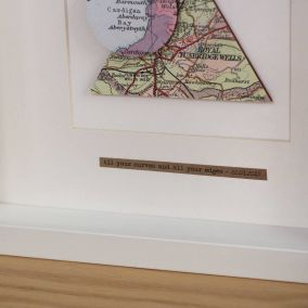 Personalised Triangle Circle Map Picture