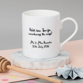 Personalised Best Man Wedding Mug