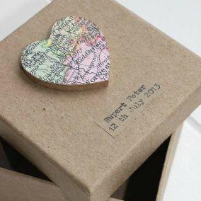 Personalised Vintage Map Memory Box