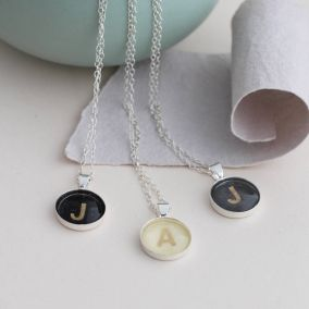 Personalised Vintage Letter Necklace