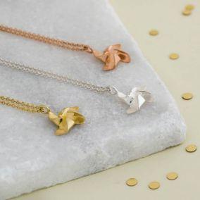 Pinwheel Charm Necklace