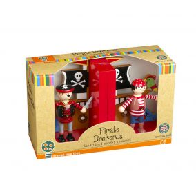 Wooden Pirate Bookends