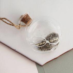 Silver Fairy Dust Scroll Bauble