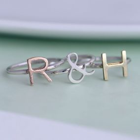 Personalised Letter Stacker Ring