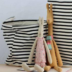Stripey Laundry Basket