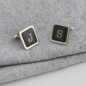 Personalised Vintage Typography Letter Cufflinks