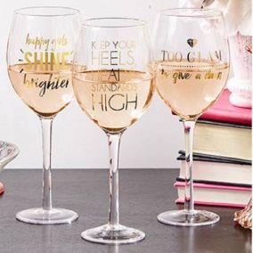 Wine Lovers Drink Measure Wine Glass