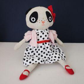 Cuddly Spotty Dress Panda Toy