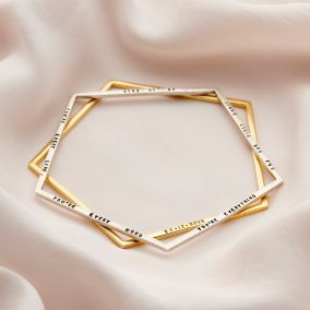 Personalised Pentagon Bangle