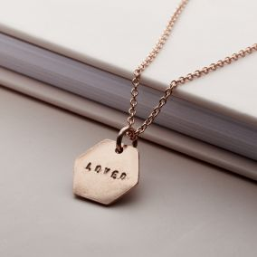 Personalised Hexagon Necklace