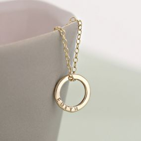 Personalised 9ct Gold Mini Message Necklace