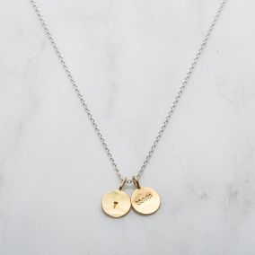 Personalised Aquarius Zodiac Charm Necklace