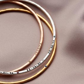 Personalised Birthstone Bangle