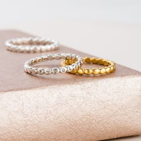 Personalised Bead Stacker Ring