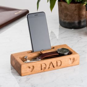 Personalised Wooden Phone Holder For Desk