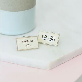 Personalised Digital Special Time Cufflinks