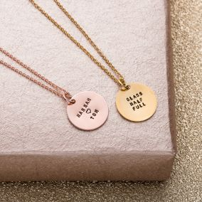 Personalised Message Disc Necklace
