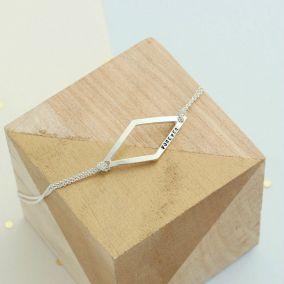 Personalised Geometric Rhombus Bracelet