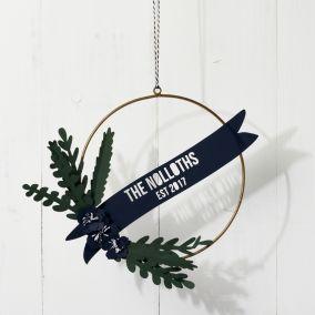 Personalised Papercut Christmas Wreath