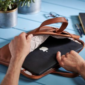Personalised Leather Laptop Briefcase
