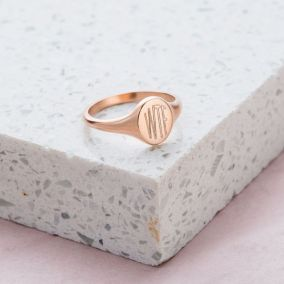 Engraved Initials Signet Ring