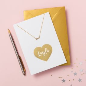 Personalised Valentine's Card & Necklace Set