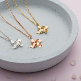 Pinwheel Charm Necklace