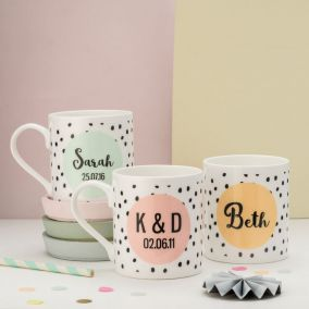 Personalised Colour Pop Mug