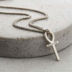 Personalised Men's Ankh Necklace