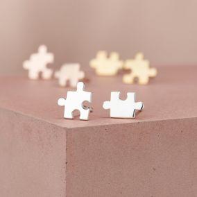 Jigsaw Stud Earrings