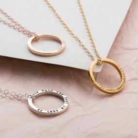 Personalised Quote Circle Necklace