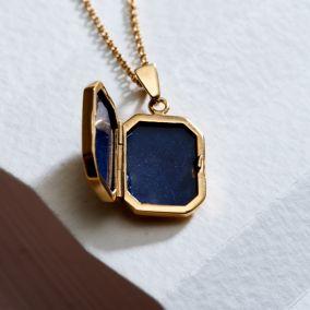 Personalised Rectangle Locket Necklace