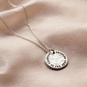 Personalised Molten Texture Disc Necklace