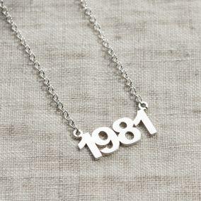 Retro My Year Necklace