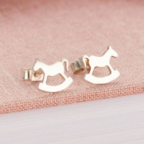 Silver Rockinghorse Charity Stud Earrings