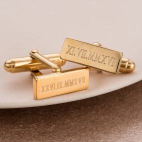 Personalised Roman Numerals Cufflinks