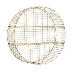 Round Gold Wire Shelf
