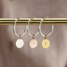 Personalised Disc hoop Earrings