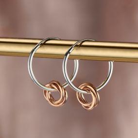 Russian Ring Hoop Earrings