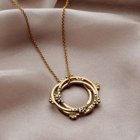 Personalised Crown Russian Ring Necklace
