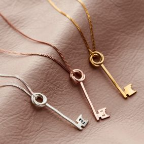 New Home Personalised Key Necklace