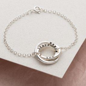 Personalised Russian Ring Bracelet
